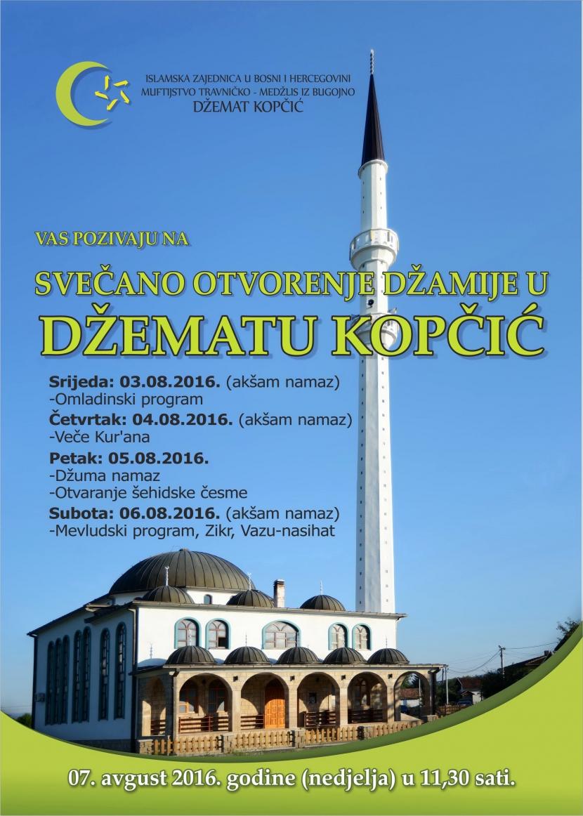 Svečano otvorenje džamije u džematu Kopčić MIZ Bugojno