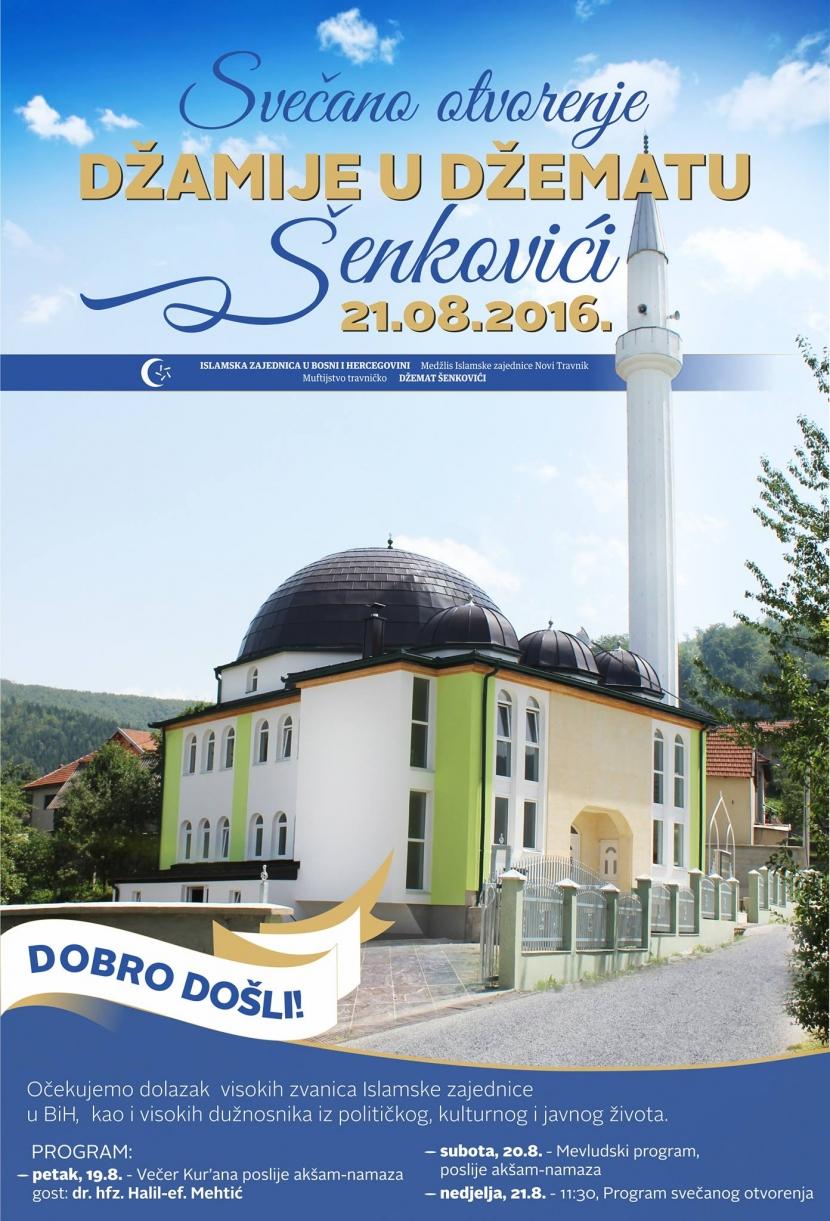 Svečano otvorenje džamije u džematu Šenkovići MIZ Novi Travnik